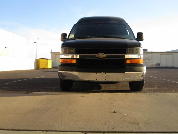Chevy conversion van with Train Kleinn Automotive Air Horns