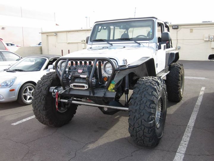 Jeep Wrangler Line Rock Installed