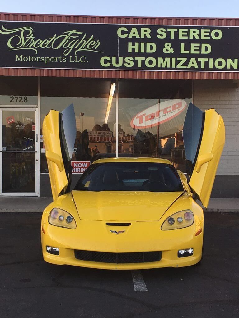 Streetfighter C6 corvette Vertical doors